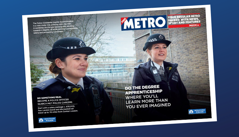 Met Police Metro cover wrap