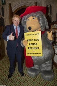 Boris Johnson and Womble