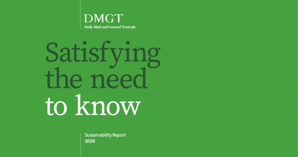 DMGT sustainability report